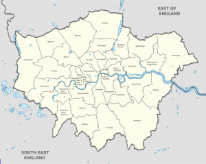 London Map by WikiMedia Commons